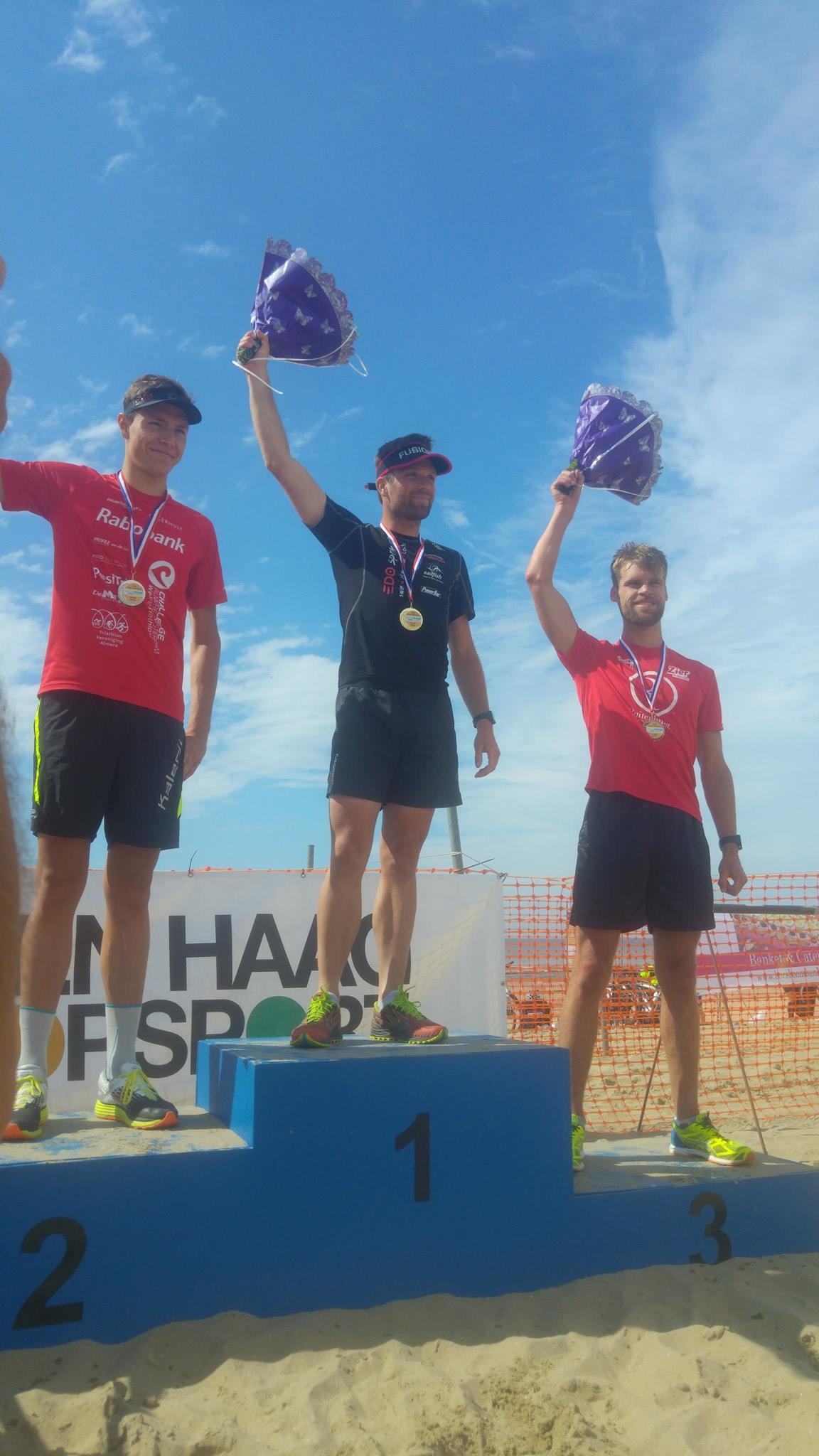Beach Challenge podium