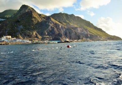 Saba Triathlon waar zelfs het zwemmen bergop gaat; Arjans NK RBR Ecuador; Langlaufende triatleten – WTJ 1424